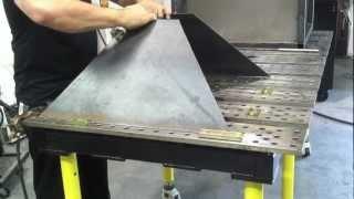 getlinkyoutube.com-Plasma Cutting Table - DIY Downdraft Table using StrongHand Tools part1