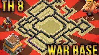 getlinkyoutube.com-Clash Of Clans - BEST TH8 WAR BASE - UNBEATABLE - ANTI DRAGON - AIR SWEEPER