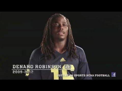 Michigan QB Denard Robinson wants your NCAA Football 14 Cover Vote!