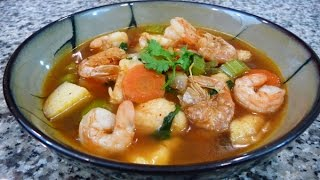 getlinkyoutube.com-Receta Caldo de Camaron, receta familiar comida Mexicana