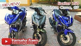 getlinkyoutube.com-Exciter 150 Movistar, Exciter 150 Camo, Exciter 150 GP - Soi cận cảnh 3 chiến binh! ✔