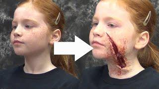getlinkyoutube.com-Horror Halloween Makeup: Gel-10 & New Makeup Kit