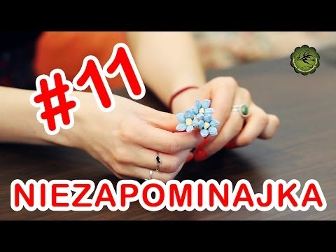 Kwiatki z bibuły #11 - niezapominajka