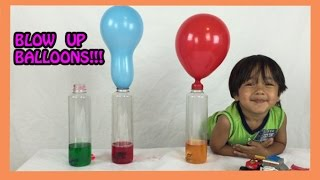 getlinkyoutube.com-Baking Soda and Vinegar  Easy Science Experiments for kids BALLOON BLOW UP Ryan ToysReview