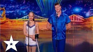 getlinkyoutube.com-Акробатика на моноцикле. Дмитрий и Елена Дудник - Україна має талант-6 - Кастинг в Одессе