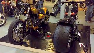 getlinkyoutube.com-Harley Davidson Softail FXSB Breakout Best Custom 300 Tyres