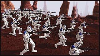 getlinkyoutube.com-Clones Engage Battle Droids - 501st on Geonosis | Men of War Assault Squad 2 Star Wars Mod Gameplay