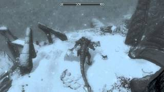 getlinkyoutube.com-Skyrim - Mount a Dragon like a Horse without Flying, Full Control over Dragon!