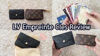 getlinkyoutube.com-Louis Vuitton Cles Review, Empreinte Noir, Pros and Cons, Comparison, Key Pouch