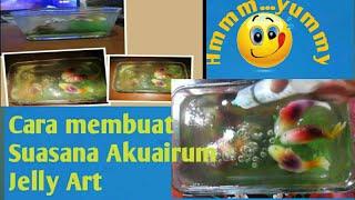 getlinkyoutube.com-Cara membuat Suasana Akuairum Jelly Art