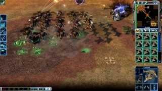 getlinkyoutube.com-Command & Conquer 3: Kanes Wrath Skirmish GDI vs SCRIN Brutal AI Steamroller on Bridge to Nowhere