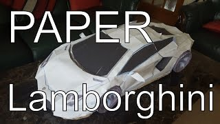 getlinkyoutube.com-Paper Lamborghini Aventador