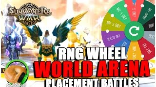 SUMMONERS WAR : RNG Wheel World Arena! - Placement Battles