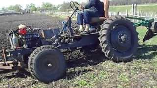 getlinkyoutube.com-Самодельный трактор. Пахота-1