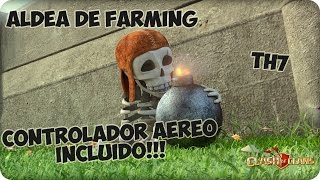 getlinkyoutube.com-Aldea Farming TH7 | Nueva defensa incluida!