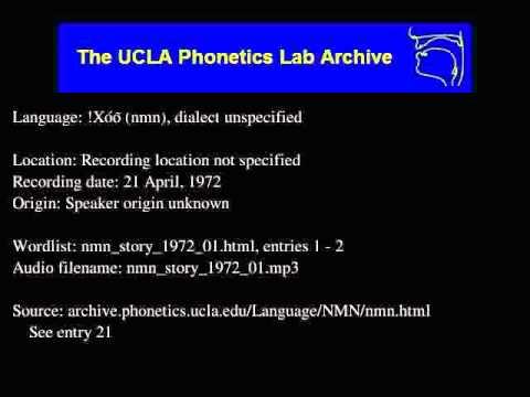 !Xóõ audio: nmn_story_1972_01