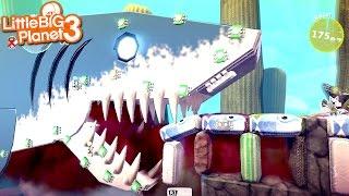 getlinkyoutube.com-LittleBIGPlanet 3 - Killer Shark Race! [Playstation 4]