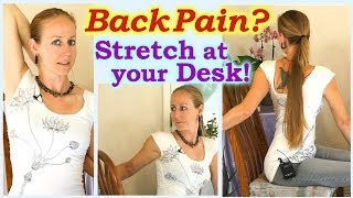 Easy Stretches For Back Pain & Neck & Shoulder Pain Relief Exercises, Stretching at home or office