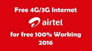 Letest Trick of Airtel 3g free Internet on Android