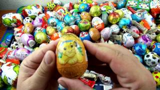 getlinkyoutube.com-50 Surprise Eggs    Unwrapping Kinder Surprise , киндер сюрприз