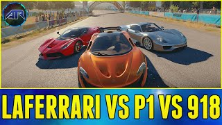 getlinkyoutube.com-Forza Horizon 2 Online : Top Gear Challenge - LAFERRARI vs MCLAREN P1 vs PORSCHE 918!!!