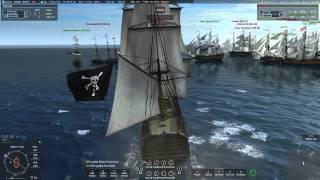 getlinkyoutube.com-Naval Action Trafalgar: Pirates vs. Great Britain (Ships of  the Line) 9-5-15