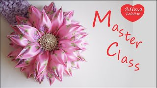 getlinkyoutube.com-Хризантема с Новыми Лепестками Канзаши / Chrysanthemum with new petals kanzashi