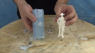 getlinkyoutube.com-Mold Making & Casting Tutorial: 73-20 Figurine Mold