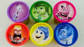 getlinkyoutube.com-Learn Colors with Disney Pixar's Inside Out: Joy, Disgust, Sadness, Fear, Anger Play Doh / TUYC