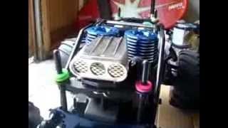 getlinkyoutube.com-(KYOSHO GIGA CRUSHER DF) PART1 WILD PANTHER 30CXP DUAL ENGINE MONSTER,UNPACKING AND BREAK IN