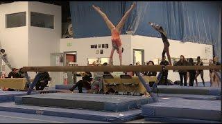 getlinkyoutube.com-Annie the Gymnast   Level 9.2   Acroanna