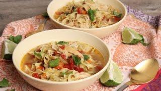 getlinkyoutube.com-Tex Mex Chicken Noodle Soup | Episode 1141