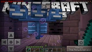 """FIGHTING THE WITHER BOSS IN MINECRAFT POCKET EDITION! - MCPE 0.15.0 """"CONCEPT"""" Video"""