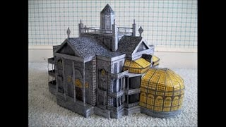 getlinkyoutube.com-Paper Model of The Haunted Mansion (2003 Movie Version)
