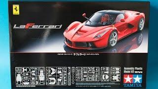getlinkyoutube.com-Tamiya 1/24 Ferrari Laferrari Model Kit Unboxing And Review