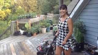 getlinkyoutube.com-Farm Girl pressure washing and gathering vegetables.