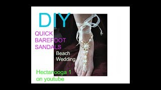 getlinkyoutube.com-BEACH WEDDING BAREFOOT SANDALS