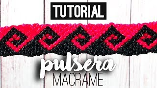 getlinkyoutube.com-Pulsera ola griega ♥︎ macrame tutorial (English subtitles) | como hacer | how to