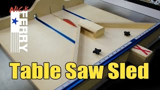 getlinkyoutube.com-Ⓕ Make A Table Saw Cross Cut / Miter Sled Combo (ep58)