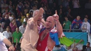 getlinkyoutube.com-Artur Tatmazov (UZB) Wins 120kg Freestyle Wrestling Gold - London 2012 Olympics