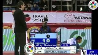 getlinkyoutube.com-Alim Gadanov (RUS) - Masashi Ebinuma (JPN) [-66kg]