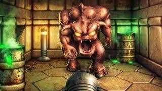 getlinkyoutube.com-Doom - Pinky Demon Blocks the Exit - Photoshop Speed Art