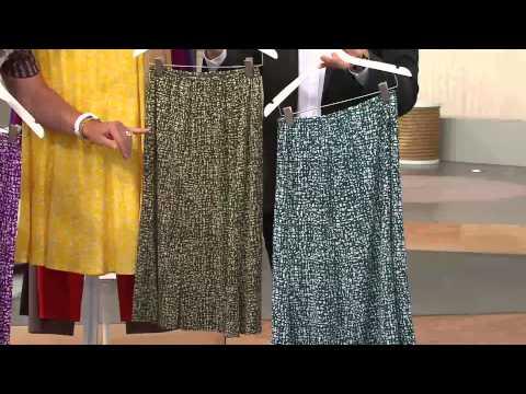 George Simonton Printed Milky Knit Six Gore Skirt with Alberti Popaj