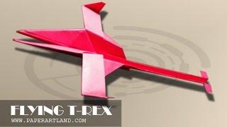 getlinkyoutube.com-Best Paper Planes: How to make a paper airplane that Flies - HARDEST KIRIGAMI | T-Rex