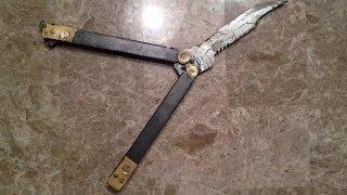 getlinkyoutube.com-Make A Better Metal Butterfly Knife