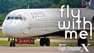 getlinkyoutube.com-FSX - MD-81 to Indianapolis