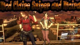 getlinkyoutube.com-Resident Evil 6 Mods Claire Sniper and Moira Burton