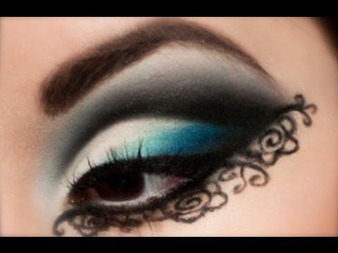 Azul + Encaje = ♡Un tutorial de maquillaje♡