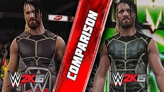 getlinkyoutube.com-WWE 2K16 - Seth Rollins Entrance Comparison - WWE 2K16 VS WWE 2K15