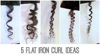 5 Easy Flat Iron Curls : Traditional, Bantu Knots, Kinky, S-curl/Wavy, Spiral